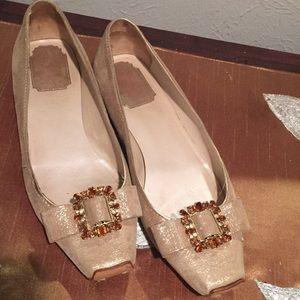 Christian Dior Gold Flats